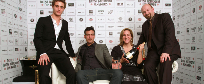 Team photograph at Moet awards